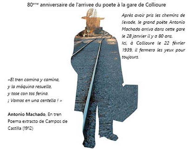 Le dernier train d'Antonio Machado – Commémoration du 27 janvier