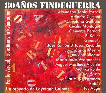 80 años Fin de guerra du 1er au 28 avril au Centro Cultural Galileo de Madrid