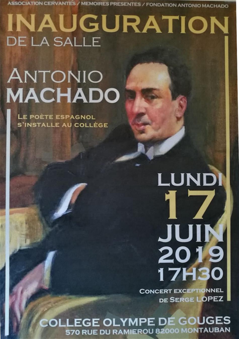 Inauguration Salle Antonio Machado du Collège Olympe de Gouges de Montauban