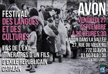 Itinéraires d'un fils d'exilé républicain catalan – Avon, le 27 septembre à 20h30