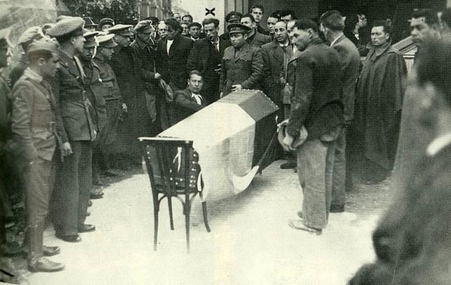 Enterrement d'Antonio Machado