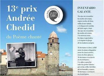 13ème Prix Andrée Chedid sur Inventario galante d'Antonio Machado