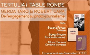 Table ronde : R. Capa & G. Taro – Galerie Marianne d'Argelès – 1er octobre 18h30