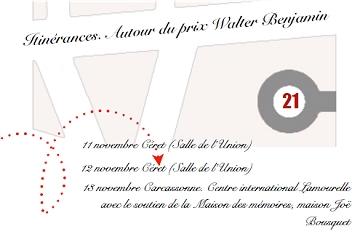 Itinérances 2021 Walter Benjamin à Céret et Carcassonne – 11-13 novembre